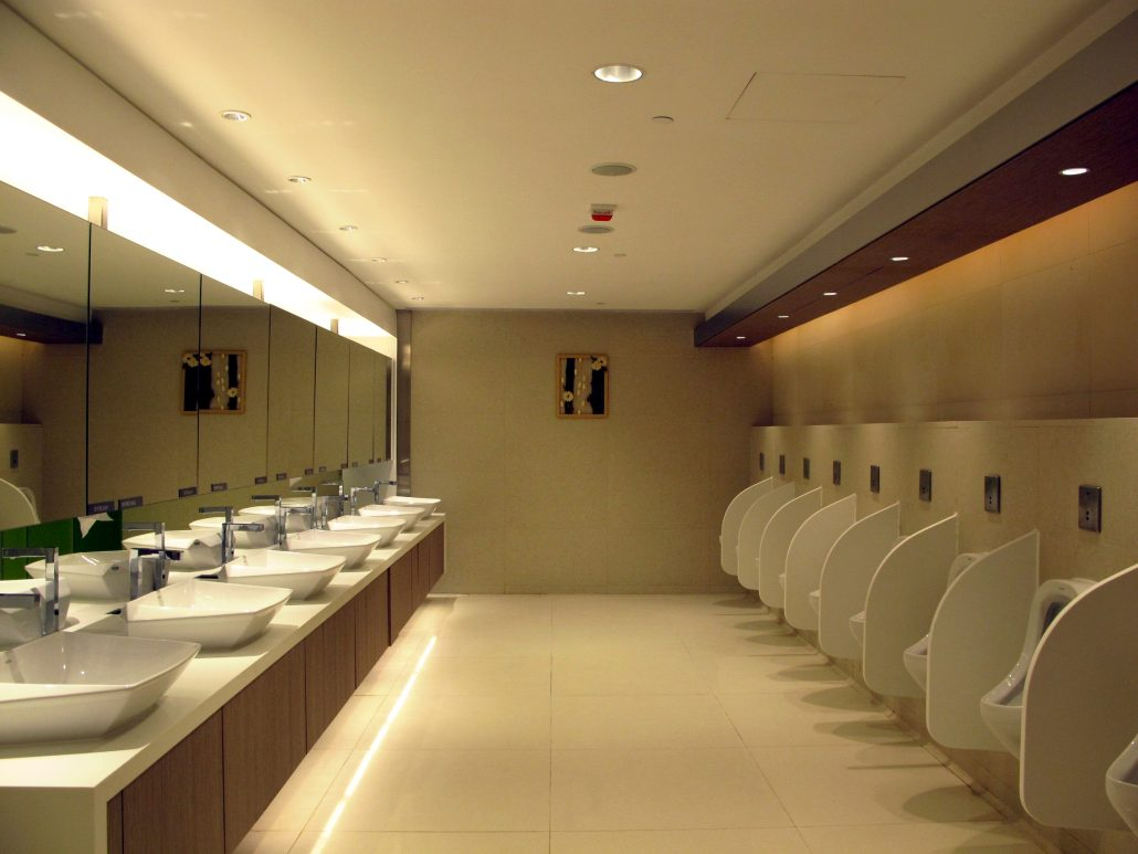 Hospitality and leisure hotel washroom