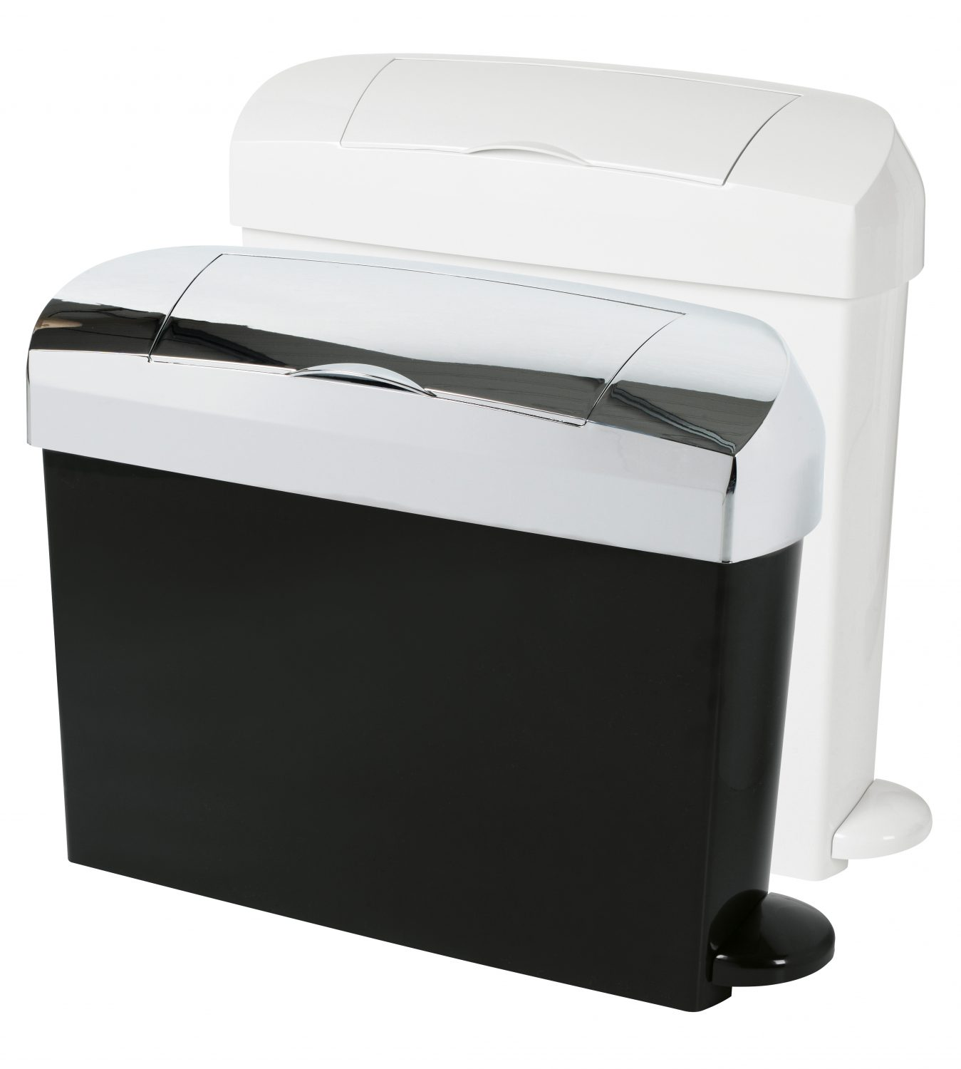 White and Black Sanitary Bin