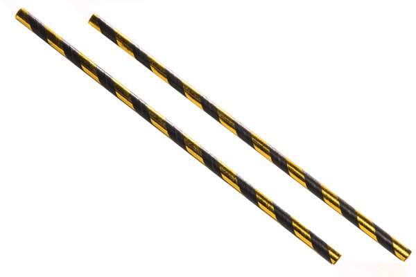 BLACK AND GOLD PAPER STRAW