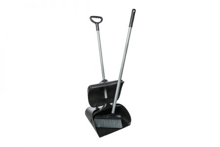 HEAVY DUTY LONG HANDLE DUSTPAN SET