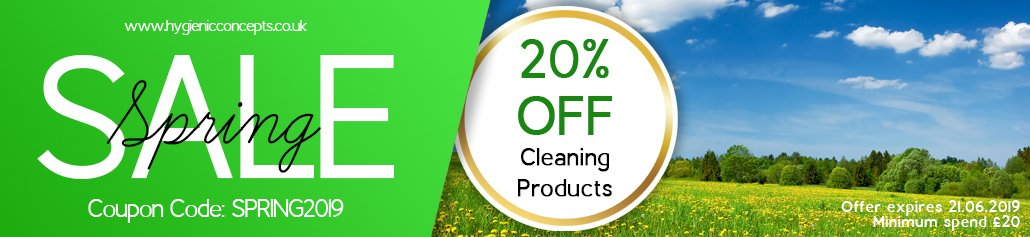 Spring 20 percent off cleaning products