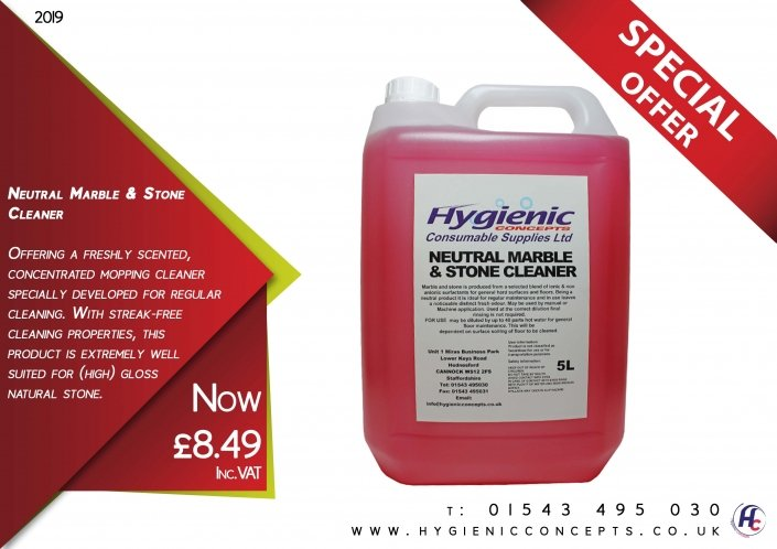 Neutral Marble and stone cleaner offer