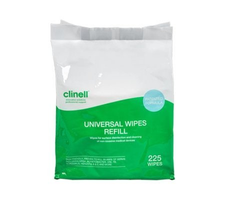 Clinell Universal Disinfectant Universal Wipes 225 pack