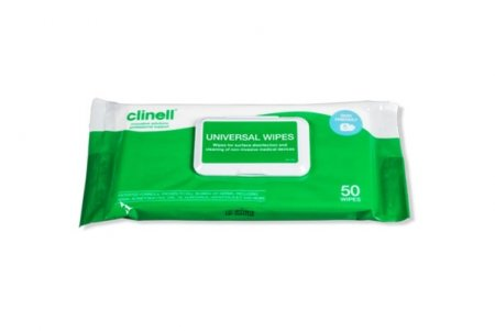 Clinell Universal Disinfectant Wipes 50 pack