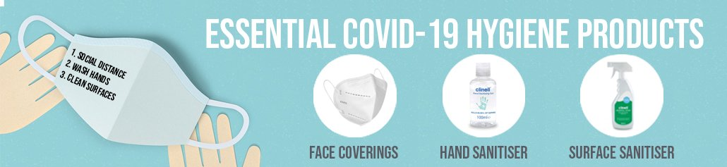 essential covid products shop banner