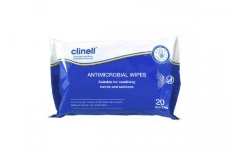 Clinell hand and surface sanitiser wipes